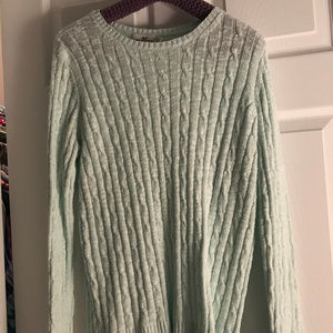 Vineyard Vines Ice Blue Cable Knit Sweater - M